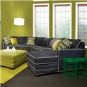 Marshfield Simply Yours 3 Pc Custom Built Sectional Sofa - Item Number: 9000-58+82+60