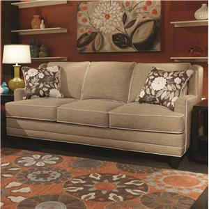 Flexsteel Champion Transitional Button Tufted Sofa With Rolled Arms And Nailheads Conlin 39 S