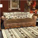 Marshfield Woodland Sofa with Queen Sleeper - Item Number: 1984-03+06