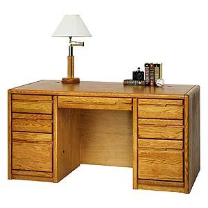 kathy ireland Home by Martin Contemporary  Double Pedestal Executive Desk