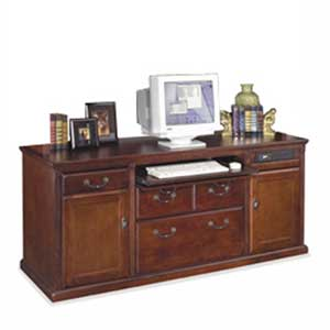 kathy ireland Home by Martin Huntington Club Storage Computer Credenza