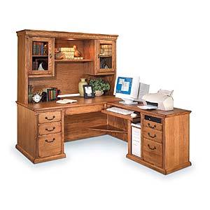 kathy ireland Home by Martin Huntington Oxford L-Shape Desk & Hutch