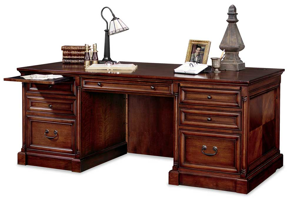 kathy ireland Home by Martin Mount View Double Pedestal Executive Desk - Item Number: IMMV720
