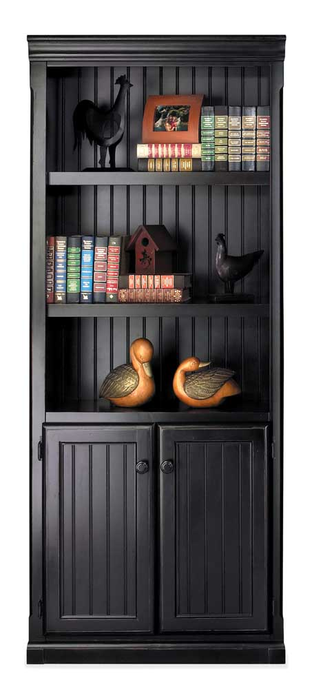kathy ireland Home by Martin Southampton Bookcase with Lower Doors - Item Number: IMSO3072D