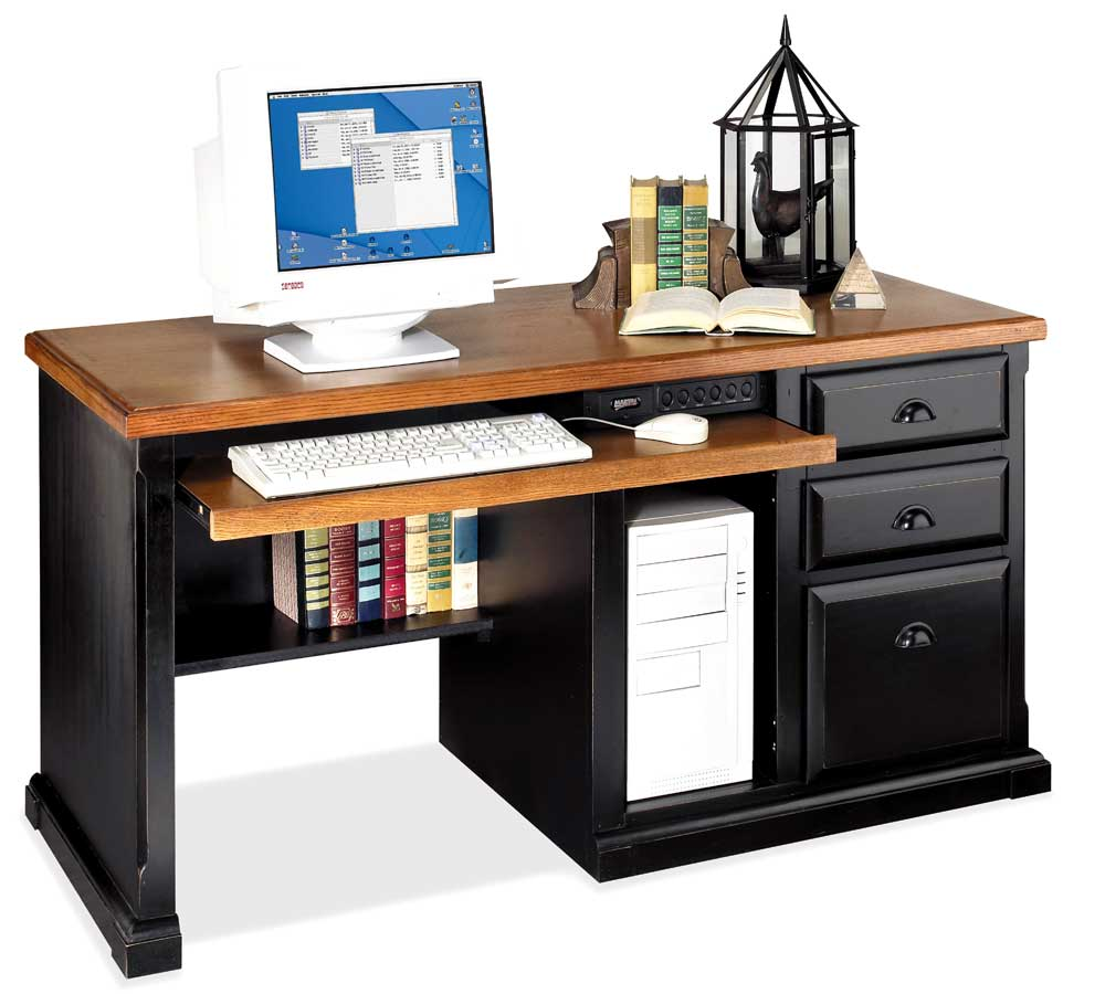 kathy ireland Home by Martin Southampton Single Pedestal Computer Desk - Item Number: IMSO570