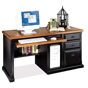 kathy ireland Home by Martin Southampton Single Pedestal Computer Desk