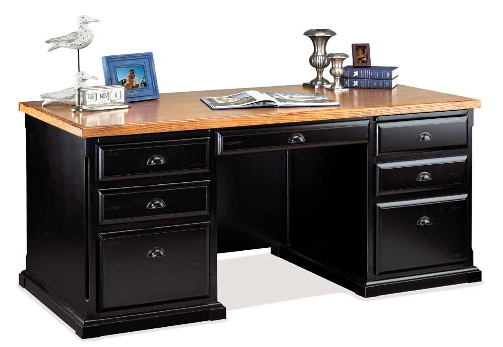 kathy ireland Home by Martin Southampton Double Pedestal Executive Desk - Item Number: IMSO680