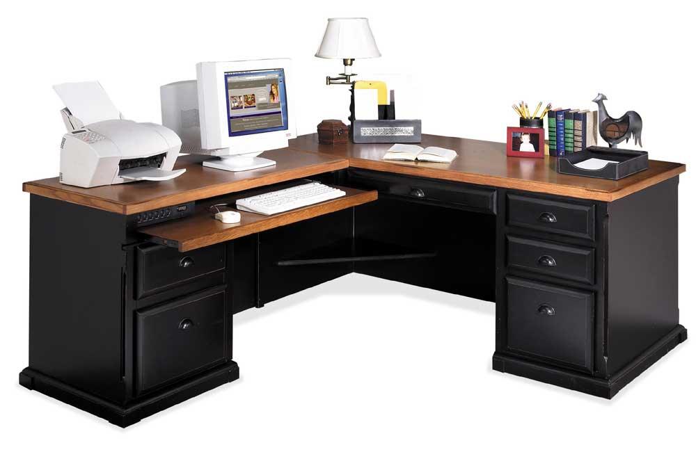 kathy ireland Home by Martin Southampton L-Shaped Executive Desk and Return - Item Number: IMSO684L+L-R