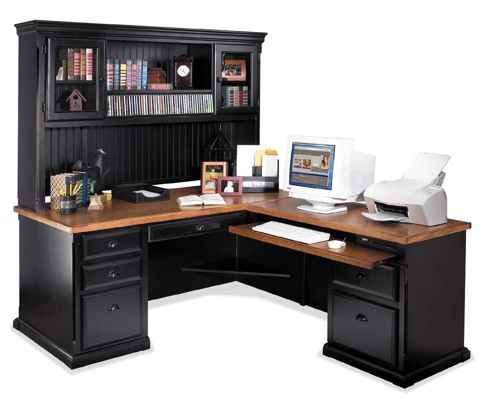 kathy ireland Home by Martin Southampton Right Facing L-Shaped Desk & Hutch - Item Number: IMSO684R+R-R+682