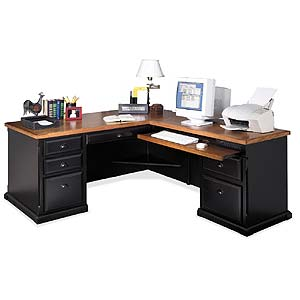 kathy ireland Home by Martin Southampton L-Shaped Desk and Return