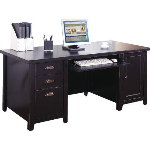 kathy ireland Home by Martin Tribeca Loft Double Pedestal Computer Desk - Item Number: IMTL685