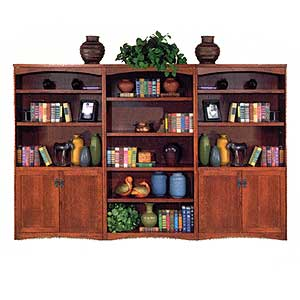 kathy ireland Home by Martin California Bungalow Bookcase Library Wall