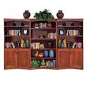kathy ireland Home by Martin California Bungalow Bookcase Library Wall - Item Number: MO3670+2xMO3670D-CB