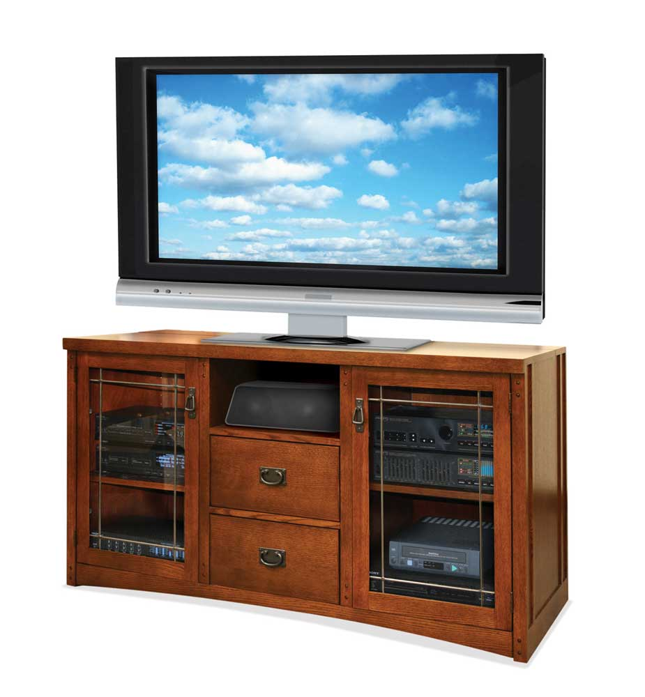 kathy ireland Home by Martin Mission Pasadena Tall Console For Flat Panel TV's - Item Number: MP363