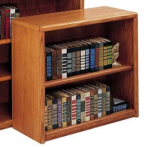 kathy ireland Home by Martin Contemporary  Bookcase with 2 Shelves