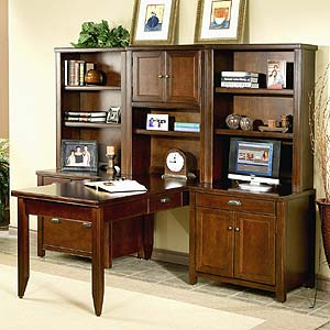 Kathy Ireland Home By Martin Powells Furniture And Mattress - T shaped desk with hutch