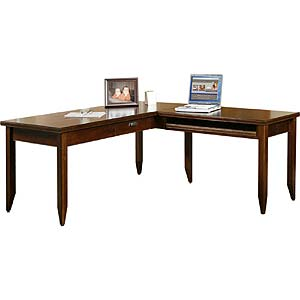 kathy ireland Home by Martin Tribeca Loft L-Shaped Writing Desk & Return