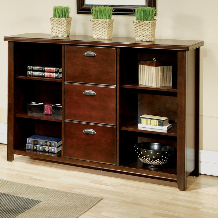 kathy ireland Home by Martin Tribeca Loft 3 Drawer File & Bookcase - Item Number: TLC504