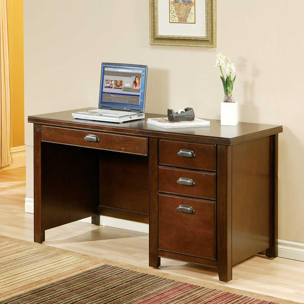 kathy ireland Home by Martin Tribeca Loft Single Pedestal Desk - Item Number: TLC540
