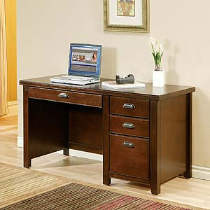 kathy ireland Home by Martin Tribeca Loft Single Pedestal Desk