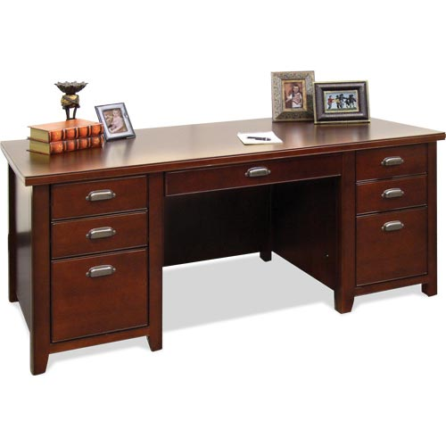 kathy ireland Home by Martin Tribeca Loft Double Pedestal Executive Desk - Item Number: TLC680