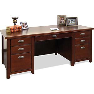 kathy ireland Home by Martin Tribeca Loft Double Pedestal Executive Desk