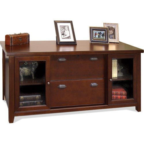 kathy ireland Home by Martin Tribeca Loft Storage Credenza with Sliding Doors - Item Number: TLC687