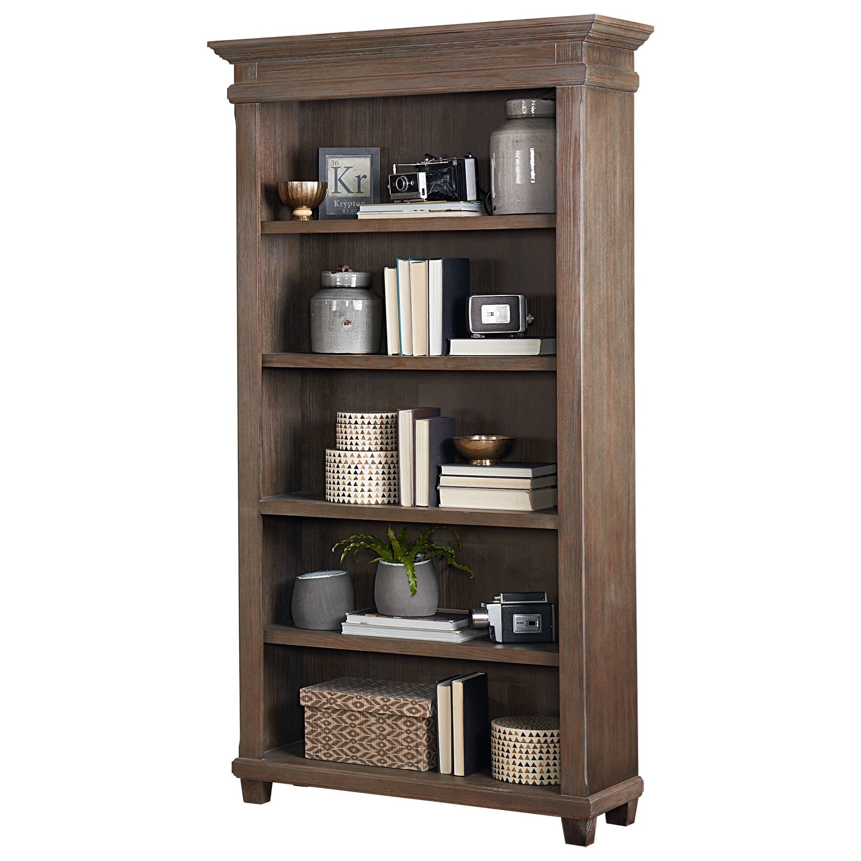 Carson Open Bookcase by Martin Home Furnishings at Darvin Furniture