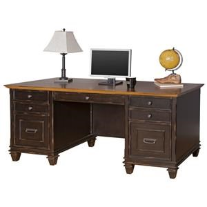 Martin Hartford Double Pedestal Desk