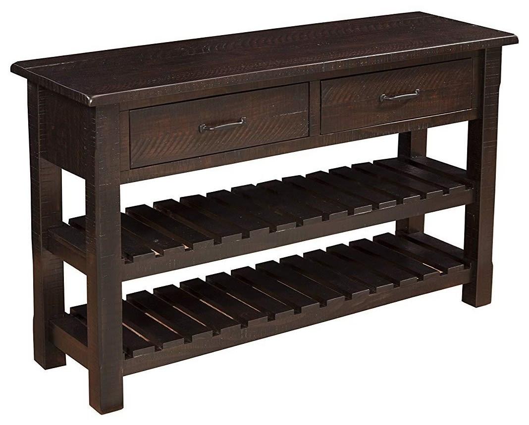 Rustic Espresso Sofa/Console Table
