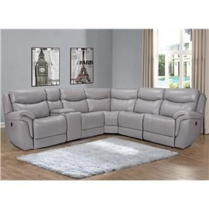 Marzilli International Trieste 6PC Power Reclining Leather Sectional