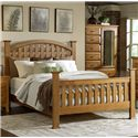 MasterCraft Retreat Casual Queen Lattice Bed - 3100-Q - Bed Shown May Not Represent Exact Size Indicated