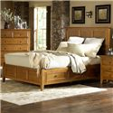 MasterCraft Retreat Casual Queen Panel Storage Bed - 3103-QST - Bed Shown May Not Represent Exact Size Indicated