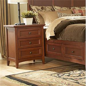 Simply Shaker Casual 3-Drawer Panel Nightstand by MasterCraft