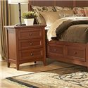 MasterCraft Simply Shaker 3 Drawer Nightstand