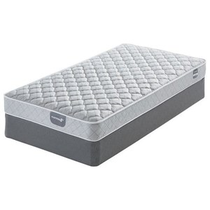 Belfort Mattress Applegate Cushion Firm Queen Cushion Firm Innerspring Mattress Set