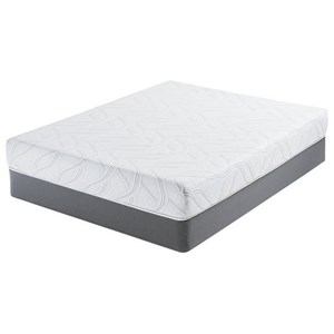 "Belfort Mattress Newson Plush Queen 8"" Plush Gel Memory Foam Mattress Set"
