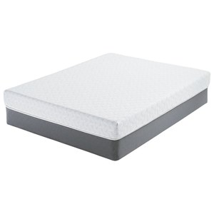 "Belfort Mattress Norburn Plush Queen 7"" Gel Memory Foam Mattress Set"