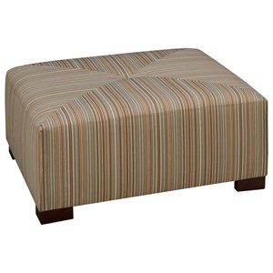 52XU-CBS Square Cocktail Ottoman with Button Tuft and Stitched Top by Max Home