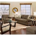Max Home 9AA5 Contemporary Upholstered Chair - Shown in Living Room Setting with Matching Sofa