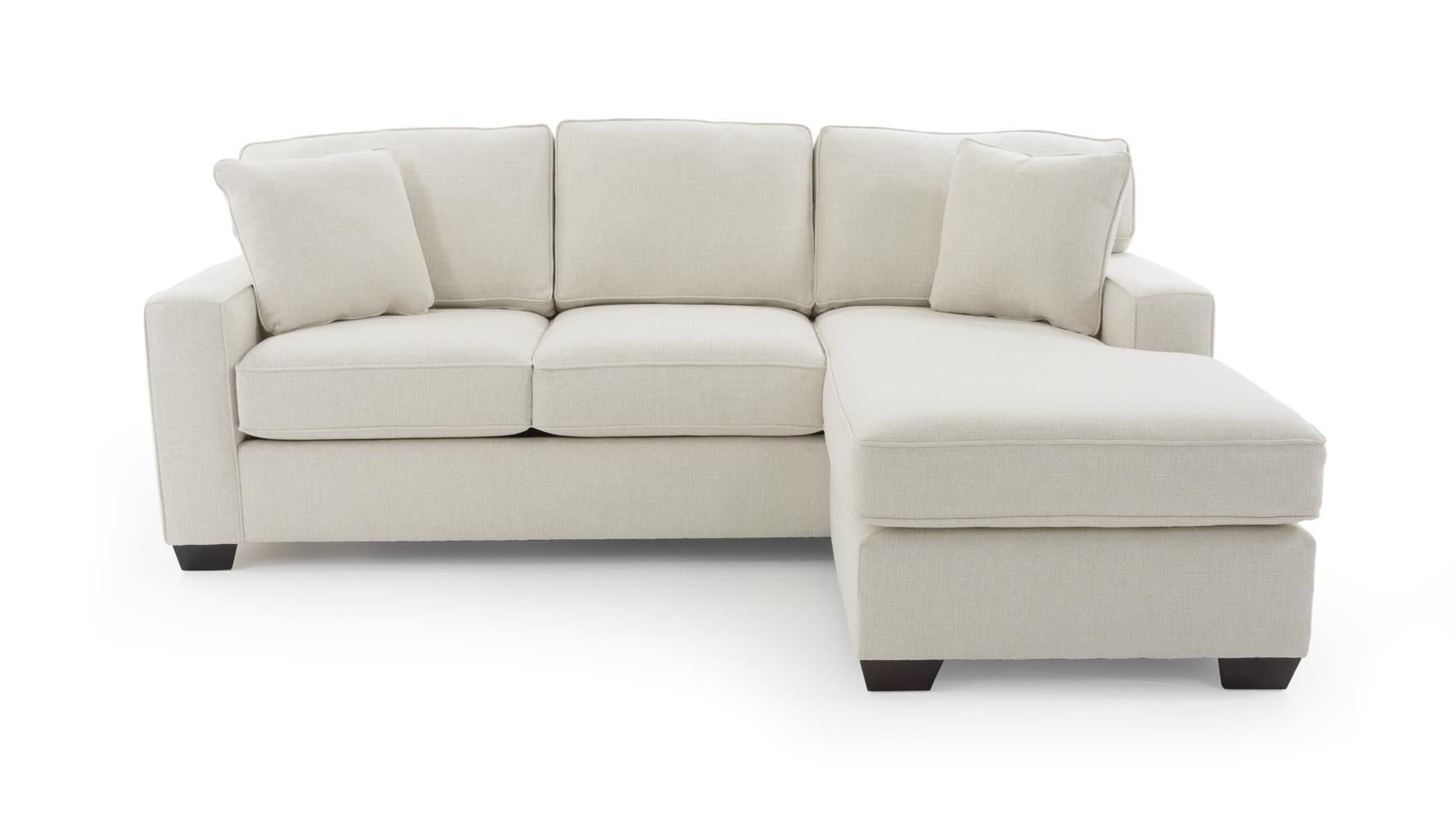 Max Home Bermuda Sleeper Sofa with Removable Chaise - Item Number: 9JH6-A-BK+9JH6-A-XC Cream