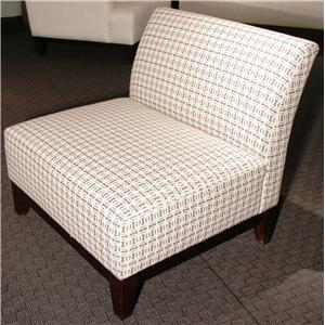 D60B Contemporary Armless Accent Chair by Max Home