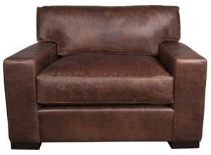 Aiden & Blair Quinlan Quinlan 100% Leather Chair and Half