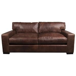Aiden U0026 Blair Quinlan Quinlan 100% Leather Apartment Sofa