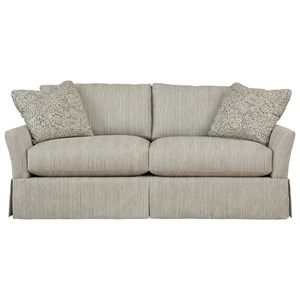 Stella Relaxed Vintage Apartment Sofa with Skirt by Max Home
