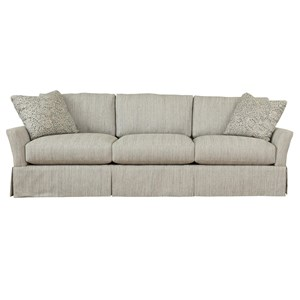 Stella Relaxed Vintage Extra Large Grande Sofa with Skirt by Max Home