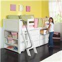 Maxtrix Kicks Low Loft Bed with Storage - Item Number: 1000+1310+1340+1413+4720+4260