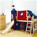 Maxtrix Wow Loft Bed w/ Angle Ladder, Slide, & Fabrics - Item Number: Wow 1