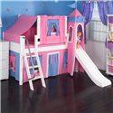 Maxtrix Wow Loft Bed w/ Angle Ladder, Slide, & Fabrics - Item Number: Wow 8