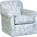 Mayo 1313 Swivel Chair - Item Number: 1313F42-Tickety Boo Vapor